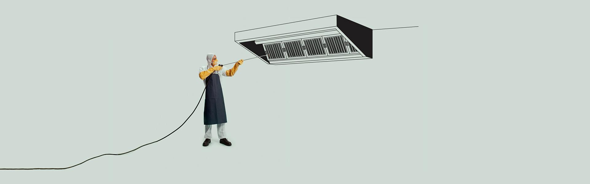 limpieza de campana extractora